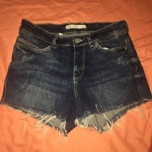 Zara cut off jean shorts
